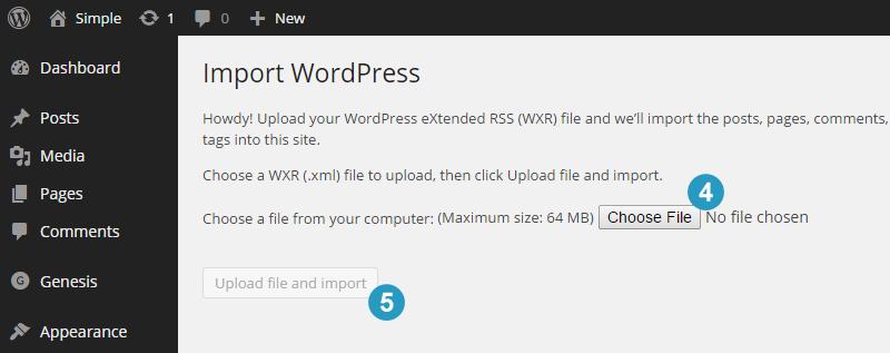 Upload XML File