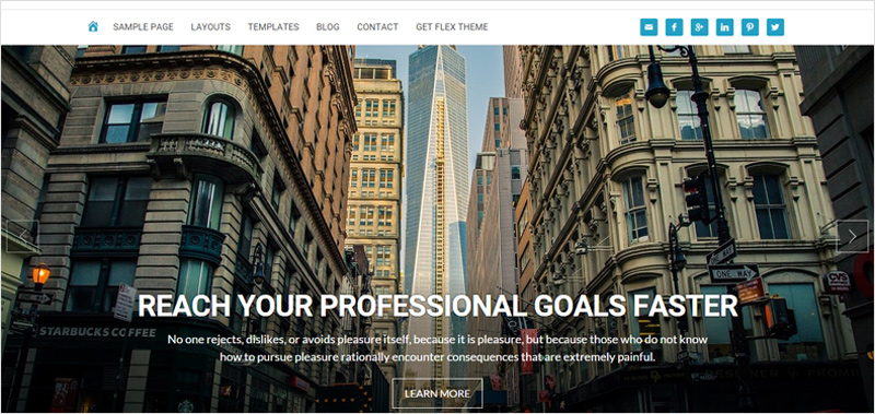 Homepage slider widget preview