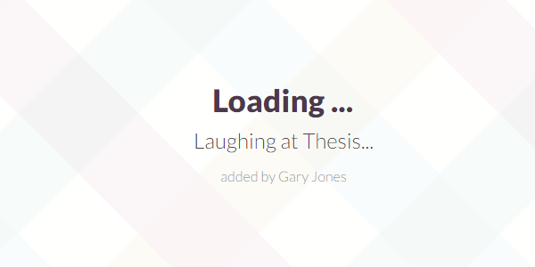 Laughing at Thesis - genesiswp slack quote