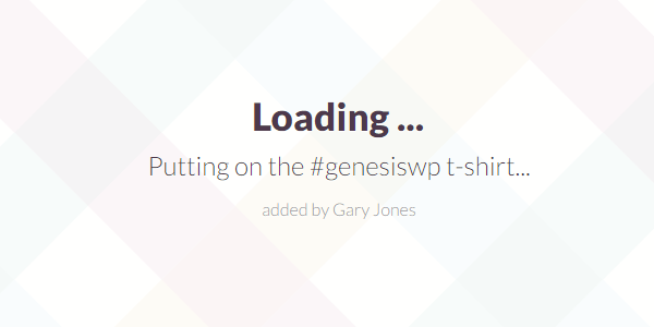 Genesiswp t-shirt - genesiswp slack quote