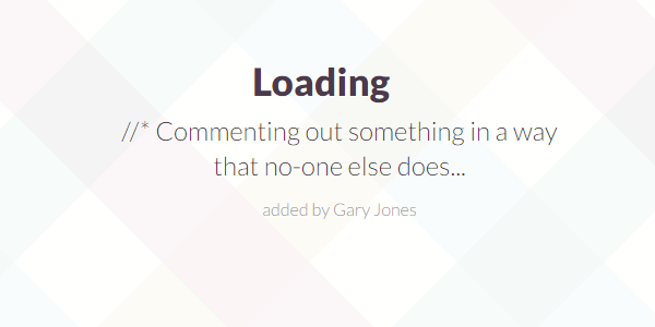 Commenting out - genesiswp slack quote