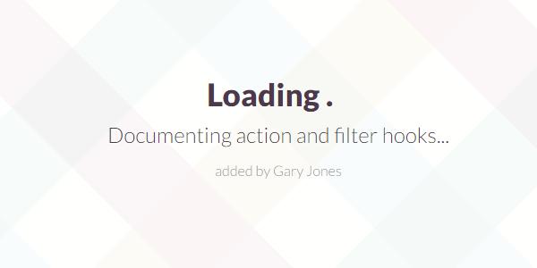 Documenting action filter hooks - genesiswp slack quote