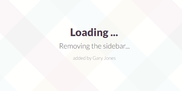 Removing the sidebar - genesiswp slack quote