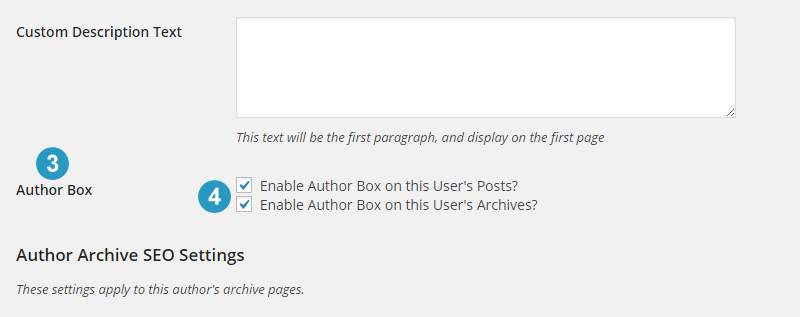 Enable author box