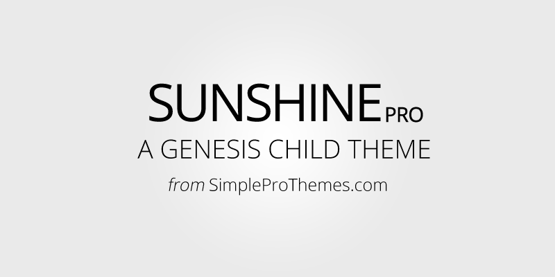 Sunshine Pro Genesis Theme launched